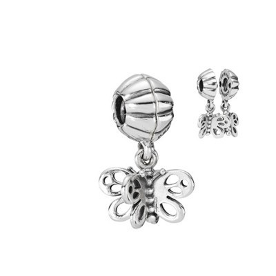 Pandora Two Butterflies Bead Thread Charm